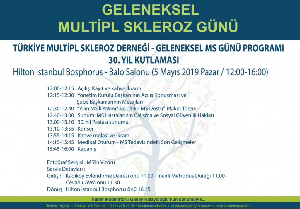 5 Mayıs Geleneksel Multipl Skleroz Günü